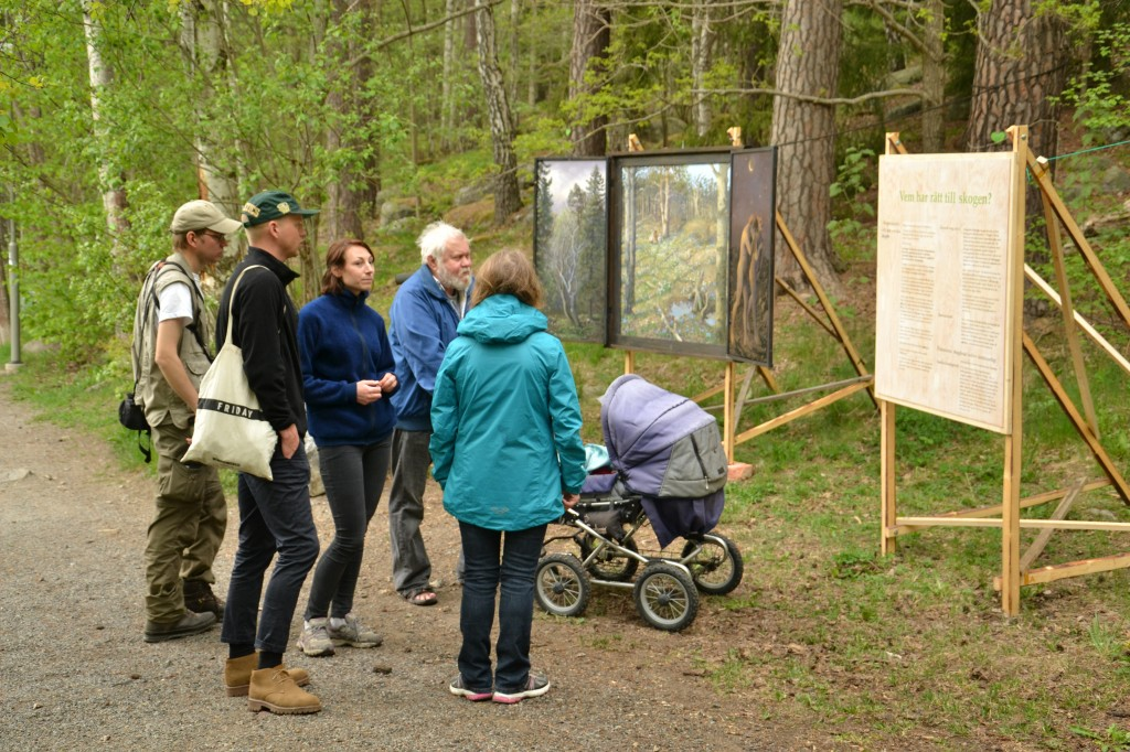 Målning utställd i Kräpplaskogen när Rågsved.